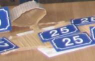 Retrait plaques numérotées pour les maisons