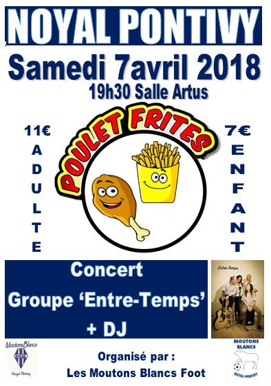 Repas-concert section Foot MB @ Salle Lancelot | Noyal-Pontivy | Bretagne | France