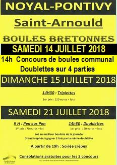 Concours de boules à Saint-Arnould