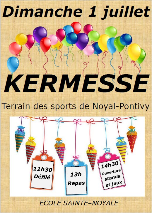 Kermesse de l'école Sainte-Noyale
