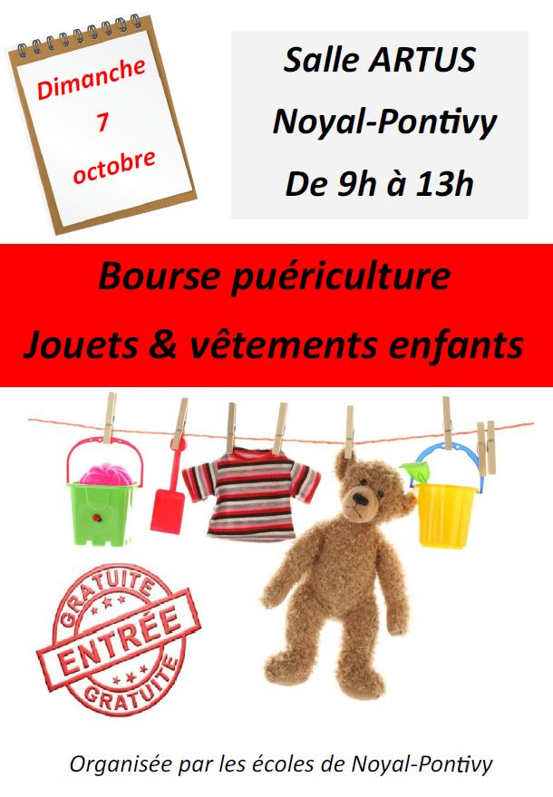 Bourse Puériculture, Jouets et vêtements enfants @ Résidence Ty Noal